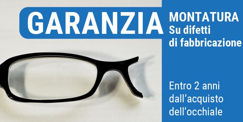 Garanzia montatura su difetti di fabbricazione, Centri Ottici Associati, Centro Ottico Nonantola, Modena