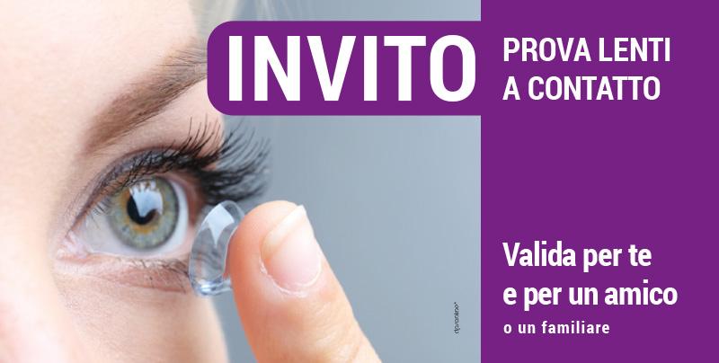Invito prova lenti a contatto, Centri Ottici Associati, Centro Ottico Nonantola, Modena